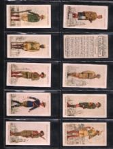 Cigarette cards Military Uniforms of British Empire